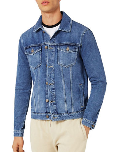 Topman Denim Jacket-BLUE-Medium