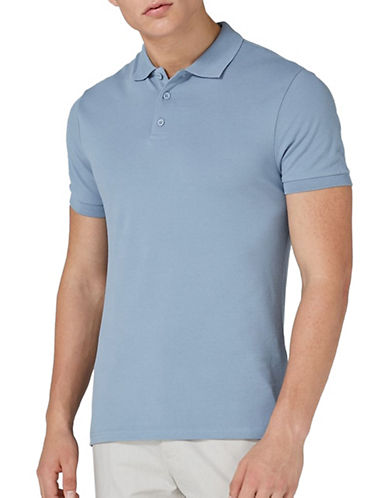 Topman Pique Polo-LIGHT BLUE-X-Large
