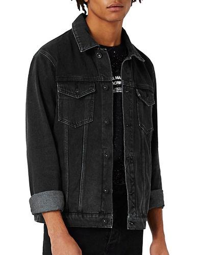 Topman Denim Jacket-BLACK-Small