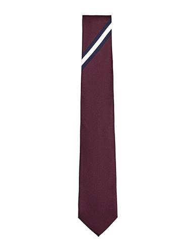 Topman Stripe Tie-BURGUNDY-One Size
