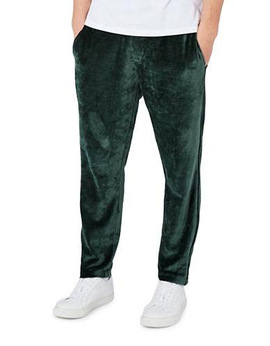 Topman Velveteen Joggers-GREEN-X-Large