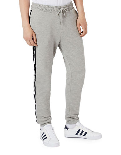 Topman Side Taping Joggers-DARK BLUE-Medium