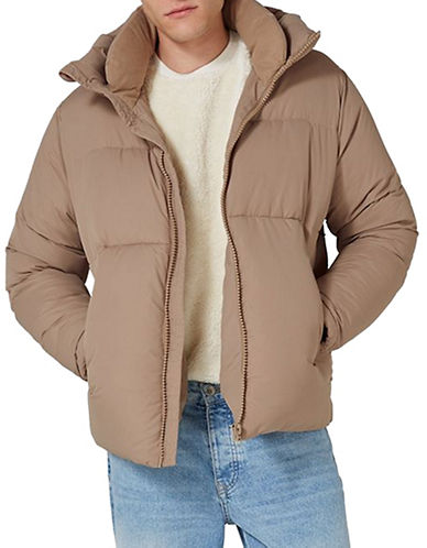 Topman LTD Classic Fit Super Puffer Jacket-GREY-Medium