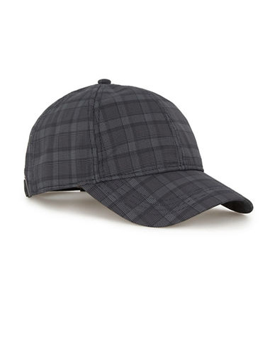 Topman Check Peak Baseball Cap-NAVY-One Size