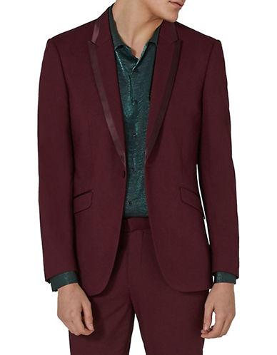 Topman Classic Fit Tux Jacket-BURGUNDY-40