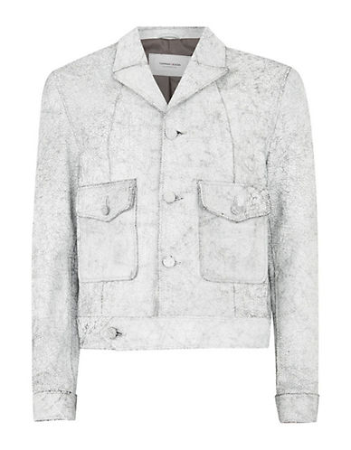 Topman TMD Leather Jacket-WHITE-Small 90097898_WHITE_Small