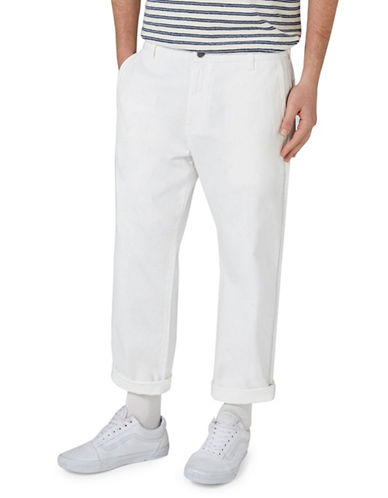 Topman LTD Work Trousers-CREAM-32 Long