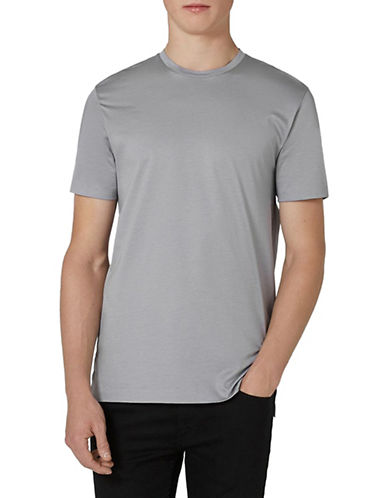 Topman Premium T-Shirt-LIGHT GREY-X-Large