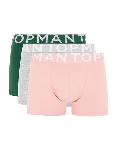 Topman Three-Pack Assorted Trunks-MULTI-Small