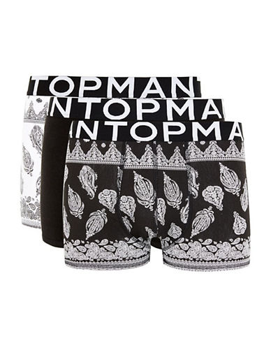 Topman Bandana Paisley Three-Pack Trunks-MULTI BRIGHT-Large/X-Large