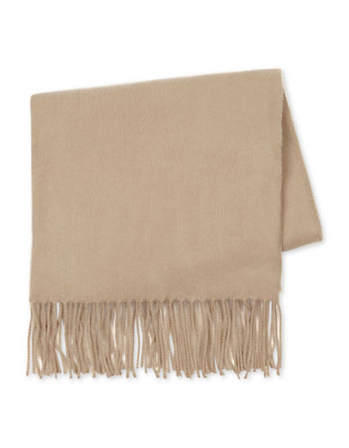 Topman Fargo Washed Scarf-BEIGE-One Size