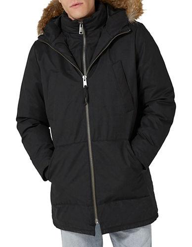 Topman LTD Classic Fit  Double-Front Thinsulate Parka-BLACK-Large 89843359_BLACK_Large
