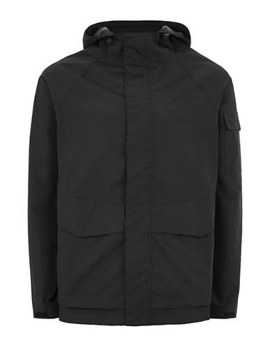 Topman LTD Harrison Waterproof Jacket-BLACK-X-Small