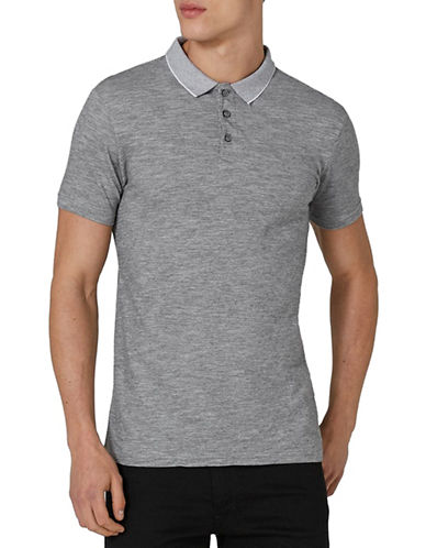 Topman Muscle Fit Leon Polo-GREY-Large