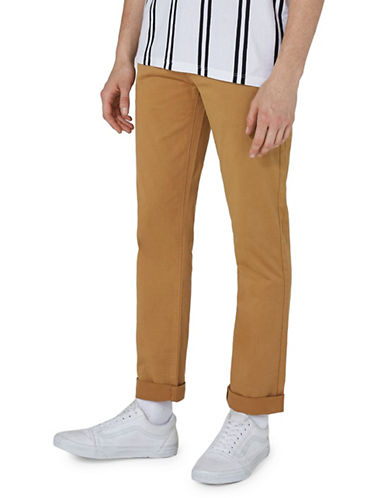 Topman Slim Stretch Chinos-YELLOW-34 Long