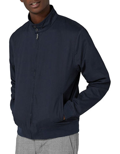 Topman Classic Fit Harrington Jacket-DARK BLUE-Medium