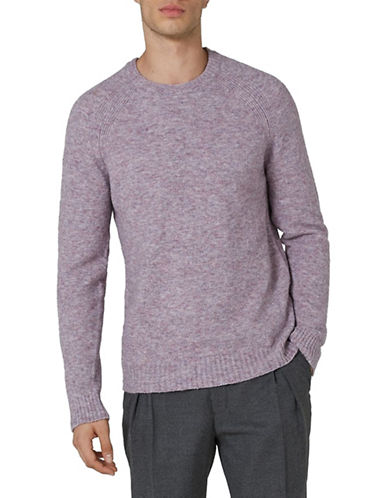 Topman Premium Wool-Blend Watercolour Sweater-PINK-Small