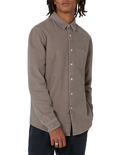 Topman LTD Dawson Flannel Shirt-GREY-Small