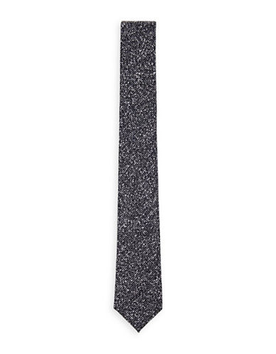 Topman Salt-and-Pepper Tie-GREY-One Size