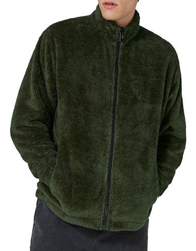 Topman LTD Haydn Zip-Up Fleece-BEIGE-Medium