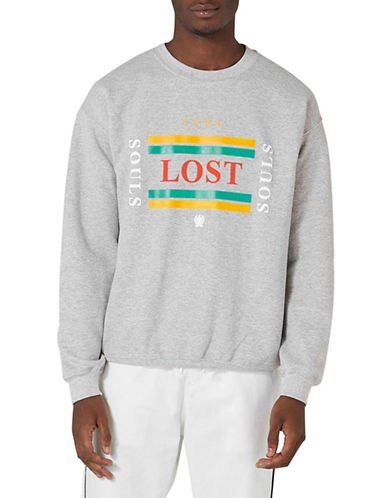Topman Lost Souls Sweatshirt-LIGHT GREY-Large
