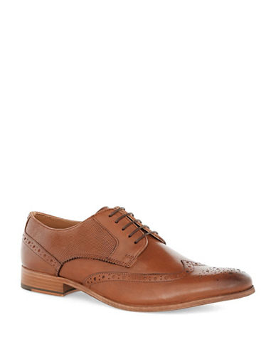 Topman Baker Leather Brogues-BROWN-41