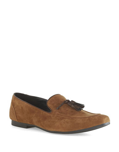 Topman Flute Loafers-BROWN-45