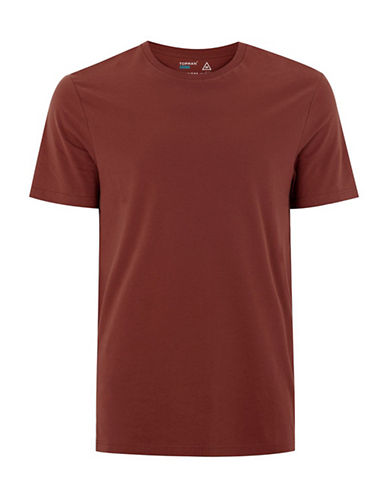Topman Slim Fit T-Shirt-RED-Medium