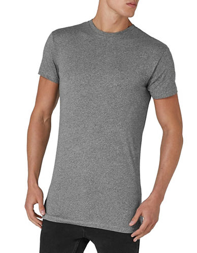 Topman Muscle Fit Longline T-Shirt-GREY-X-Small 89710517_GREY_X-Small