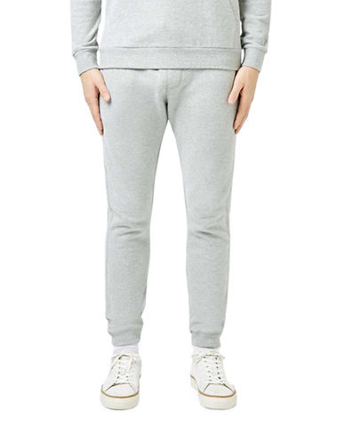 Topman Marl Skinny Joggers-GREY-Medium