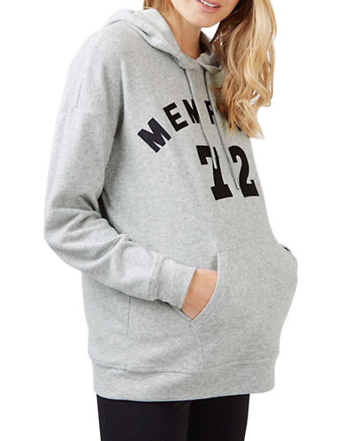 Topshop MATERNITY Memphis Brushed Hoodie-GREY-UK 8/US 4 plus size,  plus size fashion plus size appare