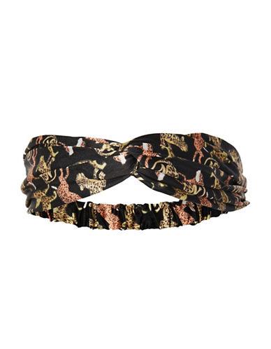 Topshop Tiger Silky Headband-ORANGE-One Size