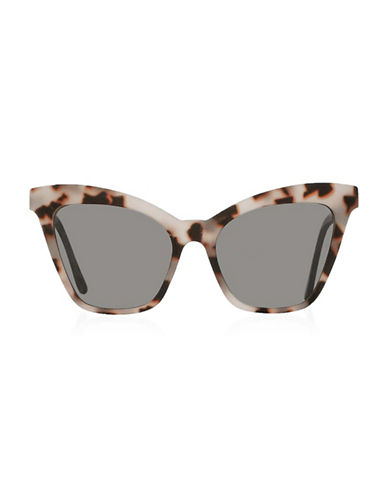 Topshop Shazne Cateye Sunglasses-MONOCHROME-One Size