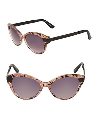 Topshop Summer Cateye Sunglasses-PINK-One Size