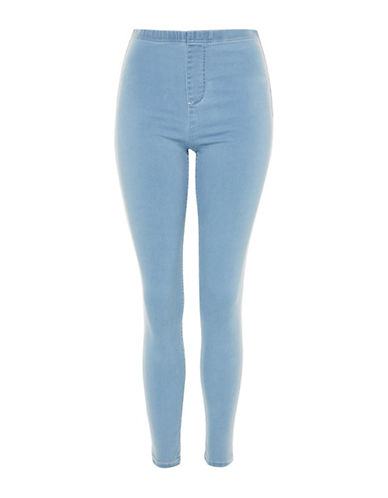 Side Stripe Denim Leggings by Topshop