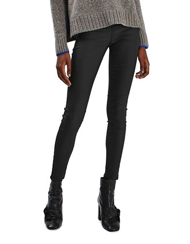Topshop MOTO Coated Joni Jeans-BLACK-28X30