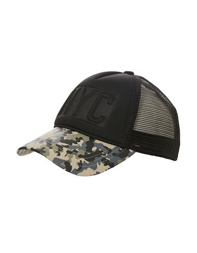 Topshop NYC Mesh Trucker Hat-CAMO-One Size