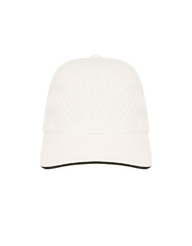 Topshop Sporty Geo Cap-WHITE-One Size