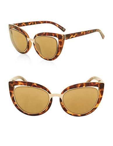 Topshop Saskia Cateye Sunglasses-BROWN-One Size
