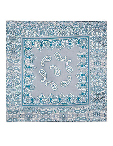 Topshop Paisley Silky Scarf-LIGHT BLUE-One Size