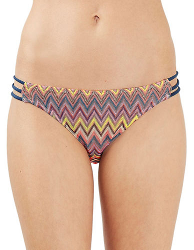 Topshop Strappy Zig Zag Bikini Bottoms-PINK-UK 10/US 6