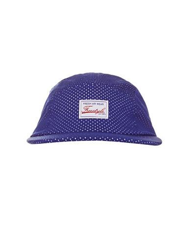 Topshop Airtex Five-Piece Cap-BLUE-One Size
