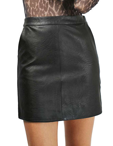 PETITE Faux Leather Pencil Skirt | Hudson's Bay