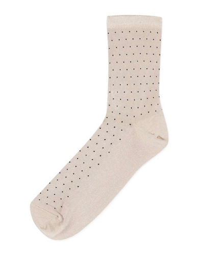 Topshop Pinspot Slinky Ankle Socks-MINK-One Size