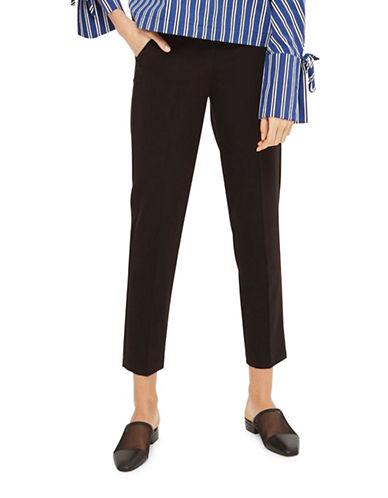 Topshop High-Rise Cigarette Trousers-BLACK-4