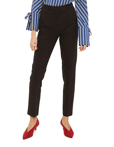 Topshop High-Rise Cigarette Trousers-BLACK-UK 8/US 4