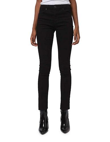 Topshop MOTO Leigh Skinny Jeans 30-Inch Leg-BLACK-26X30