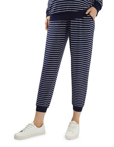 Topshop MATERNITY Stripe Lounge Joggers-NAVY-UK 12/US 8 88839291_NAVY_UK 12/US 8