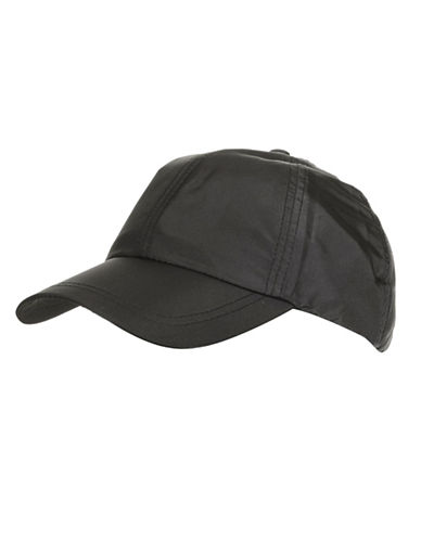 Topshop Nylon Baseball Cap-BLACK-One Size