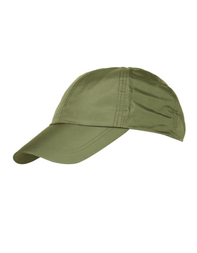 Topshop Nylon Baseball Cap-KHAKI-One Size